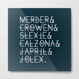 Grey's Anatomy Ships Metal Print