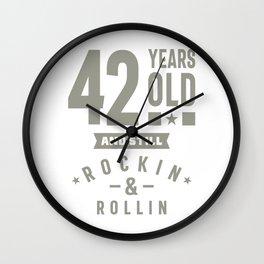42 Years Old Birthday Gift Wall Clock