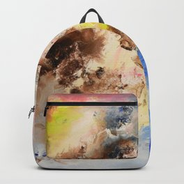 The confrontation of the clouds. Bright abstract art. Backpack