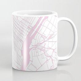 New York City White on Pink Coffee Mug