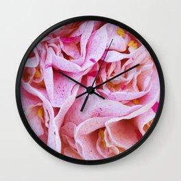 Strawberry Blonde Camellia Wall Clock