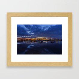 Sunset Harbour Framed Art Print