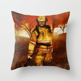 FIRST RESPONDER - Firefighter, Bushfires, Emergency Services Throw Pillow