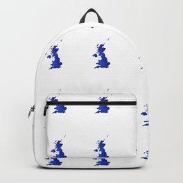 United Kingdom Map silhouette Backpack
