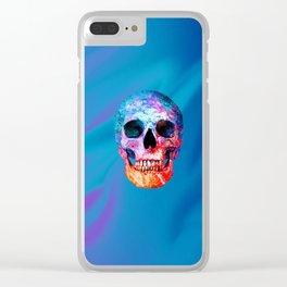 Celestial Skull Clear iPhone Case