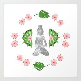 Zen Bali Buddha Art Print