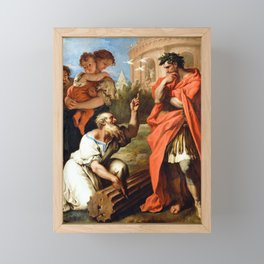 Sebastiano Ricci Tarquin the Elder Consulting Attius Navius Framed Mini Art Print
