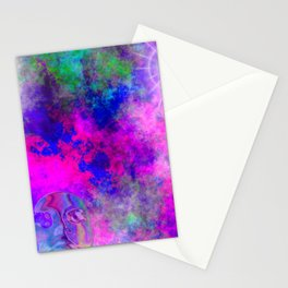 Abstract Space Face 3 Stationery Cards