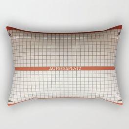 Nuremberg U-Bahn Memories - Aufessplatz Rectangular Pillow