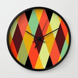 Geometric Pattern #28 (crisscross) Wall Clock