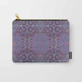 """""""Lavender lotus"""" floral arabesque pattern Carry-All Pouch"""