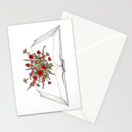 Open Book of Florals Stationery Cards