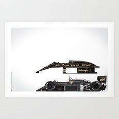 Ayrton Senna, Lotus 98T-Renault, 1986 Art Print