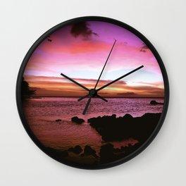 Kona Hawaii Sunset Wall Clock