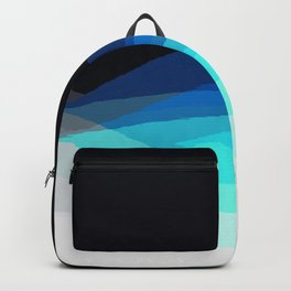 Aqua Black Ombre Backpack