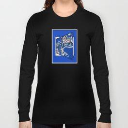 blue boy runnin' Long Sleeve T-shirt