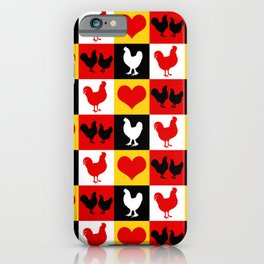 American Poultry Roosters and Hens iPhone Case