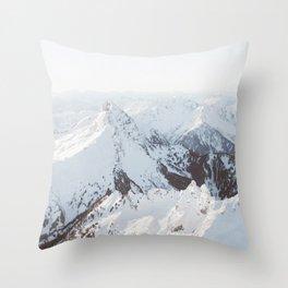 Snowy Mountains in Washington | Pt. 2 Throw Pillow