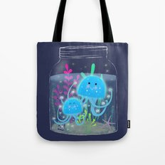 Vacation Memories With Jellyfish In A Jar Tote Bag
