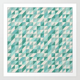 Hashed Blue Art Print