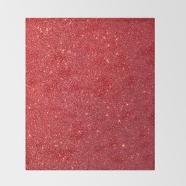 Soft Red Sparkly Valentine Sweetheart Glitter Throw Blanket