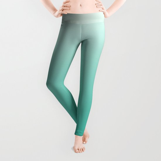 Mint Ombre Leggings