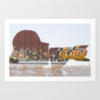 trainspotting Art Prints featuring Trainspotting by David J. van Unen