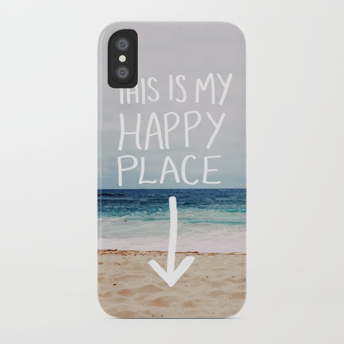 my happy place (beach) iphone case