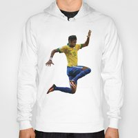 neymar Hoodies featuring World Cup - Brazil - Neymar by HonickDesign