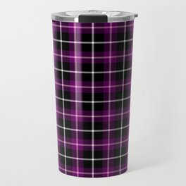 Purple and Black Tartan Travel Mug