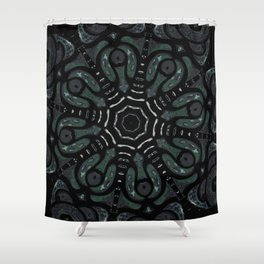 Dark Mandala #4 Shower Curtain