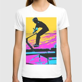 Free Falling - Stunt Scooter Rider T-shirt
