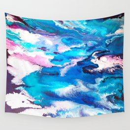 Turuoise Flow Wall Tapestry