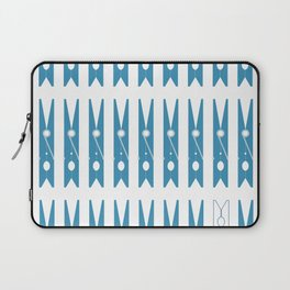 Clothespins poster Laptop Sleeve