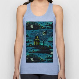 Halloween Night - Fox Fire Green Unisex Tank Top