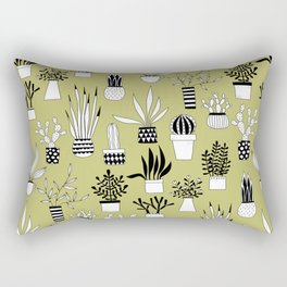 Cacti Drawings Rectangular Pillow