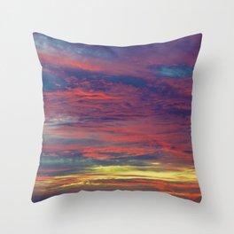 Cotton Candy coloured sky Throw Pillow
