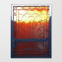 door Canvas Prints featuring Door by aeolia