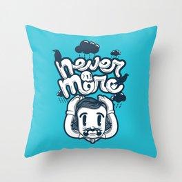 Edgar Allan Poe - Never More  Throw Pillow