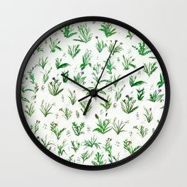 Various Plants and Weeds Wall Clock