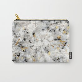Classic Marble with Gold Specks Carry-All Pouch