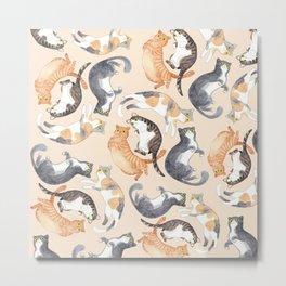 Catpattern Metal Print