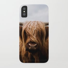 Scottish Highland Cattle in Scotland Portrait II iPhone Case
