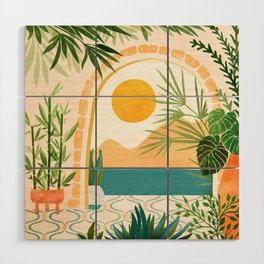 Villa View Tropical Landscape / Villa Series Wood Wall Art