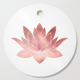 Pink Lotus Flower | Watercolor Texture Cutting Board