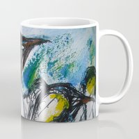 penguins Mugs featuring Penguins by James Peart