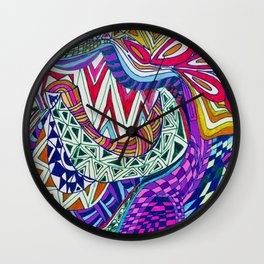 A Wonderland of Color and Fun Wall Clock