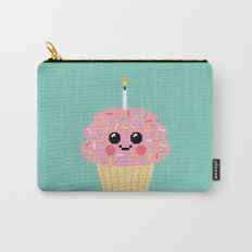 Happy Pixel Cupcake Carry-All Pouch
