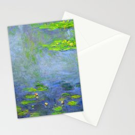 Water Lillies - Claude Monet (ufo green) Stationery Cards