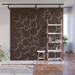 3D Futuristic Cubes VI Wall Mural